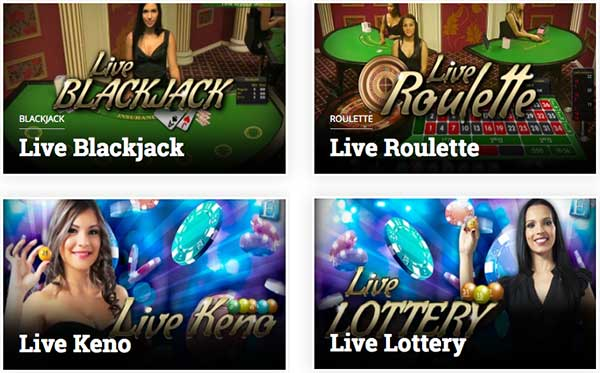 Live blackjack games in Betcoin.ag.