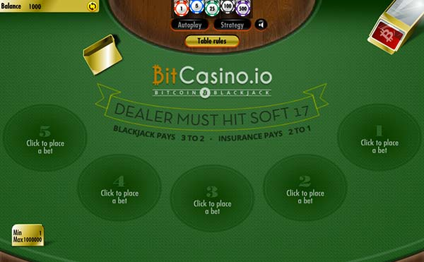 Blackjack in Bitcasino.io