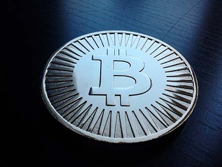 Bitcoin Image from Wikimedia Commons.