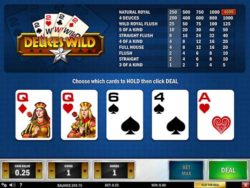 Mbitcasino review deuces wild video poker