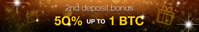Second deposit bonus 50%