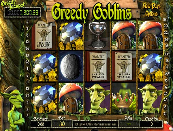 Greedy Goblins in BitcoinPenguin Casino.