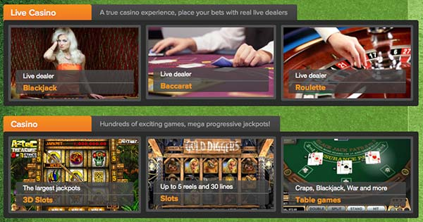 CloudBet is mainly a betting site but offers also Bitcoin casino games and live casino games.