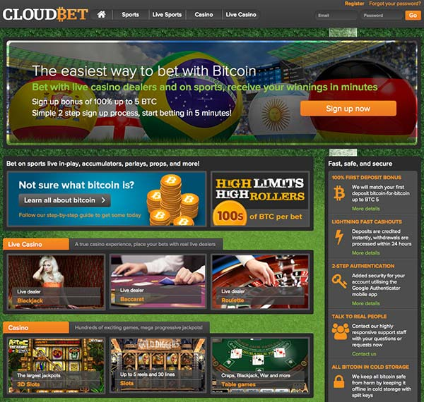 CloudBet lobby looks stylished and works fast. This Cloudbet review tells you all about this casino.