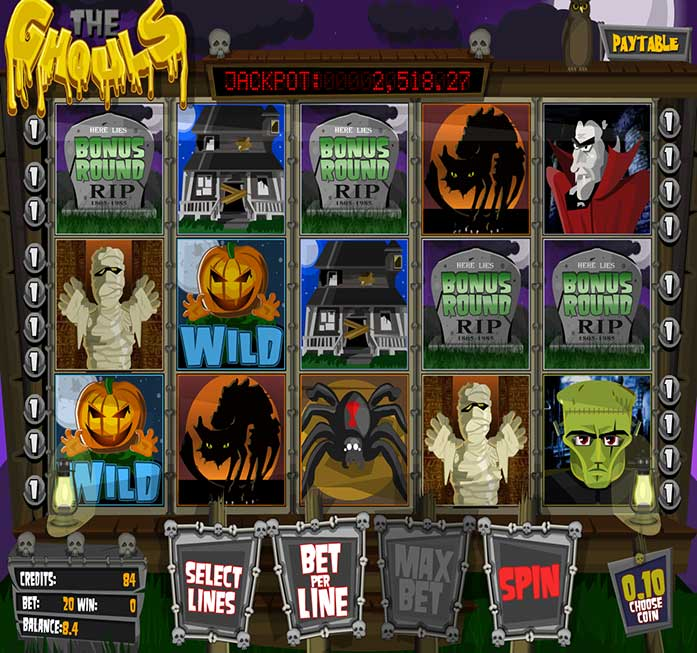 The Ghouls bitcoin slots game