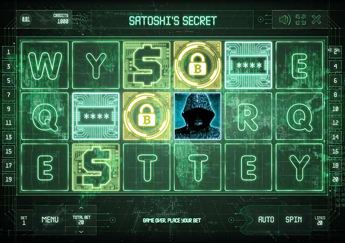 Satoshi's secret slot game