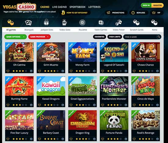 Great bitcoin btc casino game selection in vegas casino