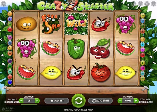 One of the Top Bitcoin Casinos 2017 include Crazy Starter Bitcoin Slot game in 7Bit Casino.