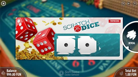 Provably fair Dogecoin Scratch Dice in BitcoinPenguin by SoftSwiss.