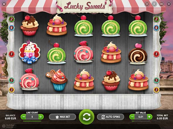 Lucky Sweets Bitcoin Slot game in Mars Casino.