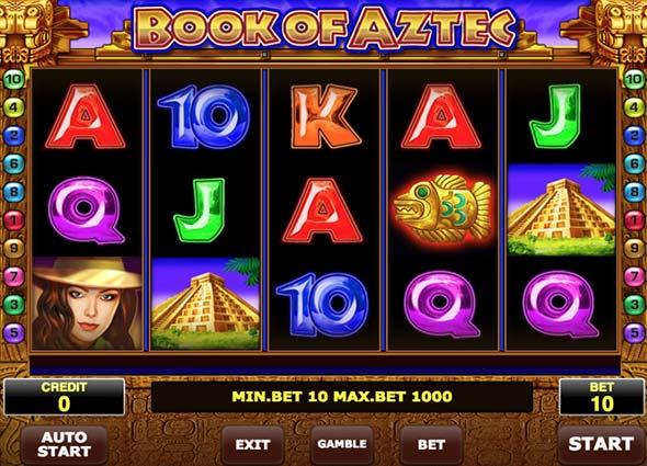 book of aztec btc casino game
