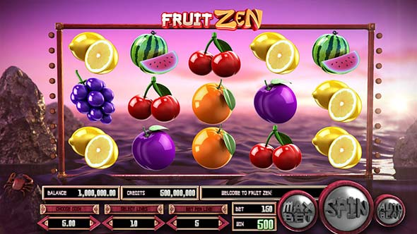 Fruit Zen Ethereum Slot game in Betcoin.ag.