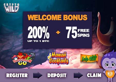 CryptoWild deposit bonus