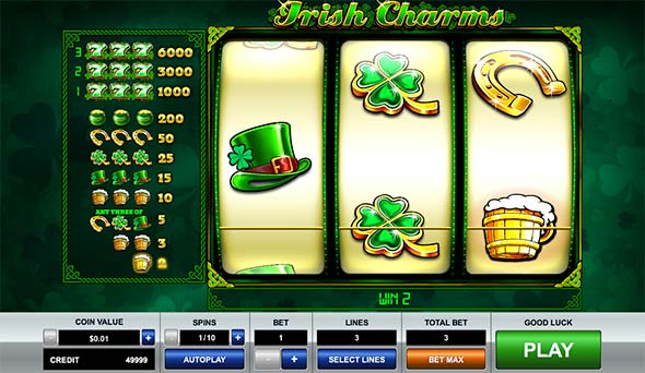 Irish Charms Bitcoin slot game from Pragmatic Play.