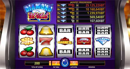 Diamond Wild Bitcoin jackpot game