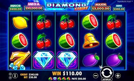 Diamond Strike slot game in FortuneJack casino.