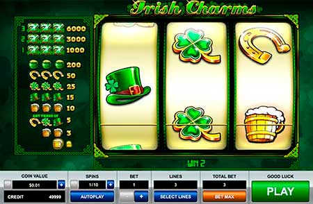 Irish Charms Dogecoin Slot game in FortuneJack Casino.