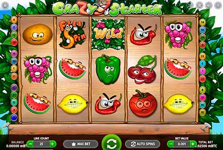Crazy Starter Bitcoin slot game in 7Bit Casino.