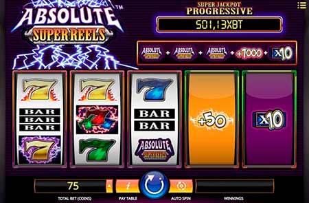 Absolute Super Reels Bitcoin slot game in 7Bit Casino.