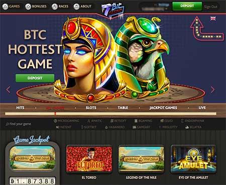 7Bit Casino lobby