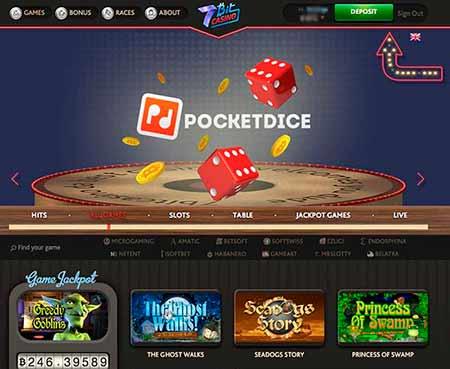 Mars Casino Pocket Dice and Bitcoin Jackpot in Greedy Goblins
