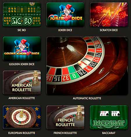 Some examples of the table games in 7Bit Casino review.