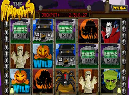 The Ghouls Bitcoin slot game in BetChain.