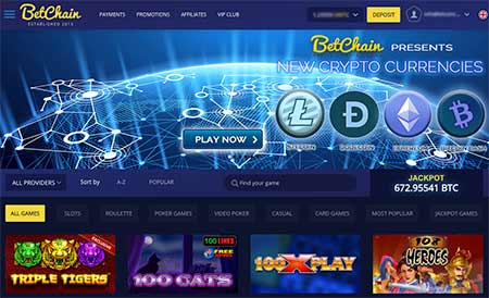 Betchain review and the bitcoin casino lobby outlooks