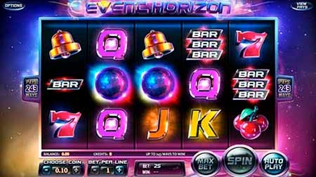 Event Horizon Bitcoin Slot game in Betcoin.ag.