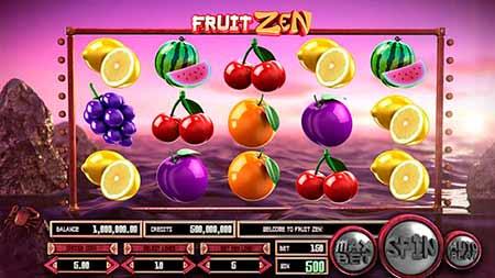 FruitZen casino game from Betsoft in Betcoin Casino.