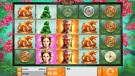Sakura Fortune Bitcoin slot game by Quickfire.
