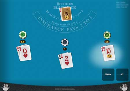 Satoshi Bitcoin Blackjack in BitCasino.io by Onetouch game provider.
