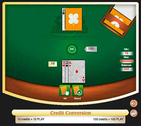 This is provably fair Bitcoin blackjack at CryptoGames.