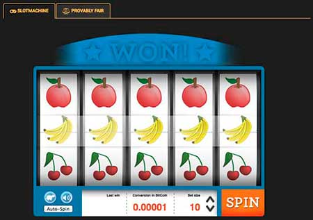 Very classic looking and provably fair Litecoin slot game at Crypto Games.