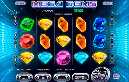 Mega Gems space and gem themed slot game in CryptoWild.