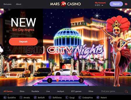 Mars Casino lobby
