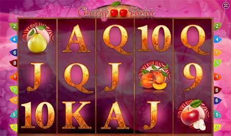 Cherry Fiesta slot game in mBit Casino.