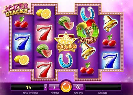 Joker Stacks slot game in mBit Casino.