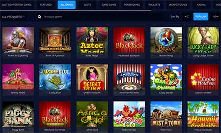 Wide gaming selection in BitcoinPenguin Bitcoin / Litecoin / Dogecoin cryptocasino.