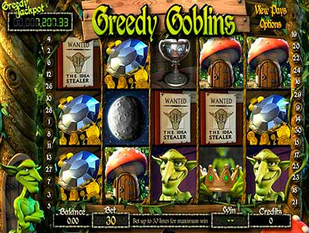 Greedy Goblins Bitcoin slot game in BitcoinPenguin.