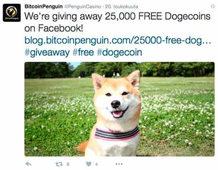 BitcoinPenguin has a lot of Twitter and social media campaigns.