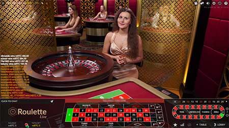 Live Roulette in VegasCasino.io