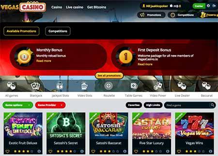 Vegascasino.io review and lobby