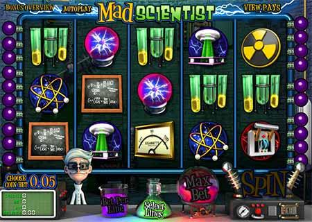 Mad Scientist Bitcoin Slot game in VegasCasino.io.