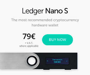 Ledger Nano S - The secure hardware wallet which we happily use and recommend to gambling in Ethereum casinos!