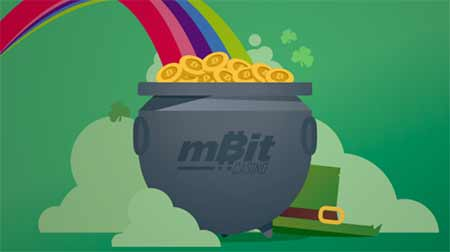 mBit Casino promotion pot of gold and get free spins