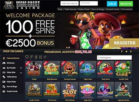 Vegas Crest Bitcoin casino bonus code lobby