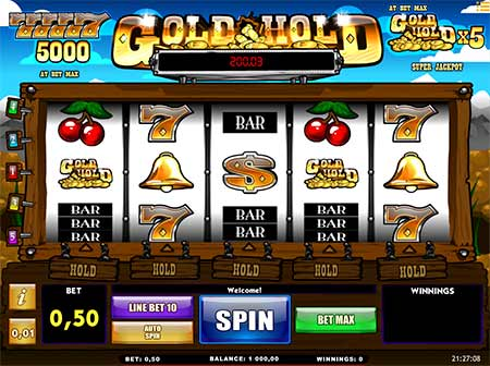 Gold Hold Jackpot slot game from iSoftBet.