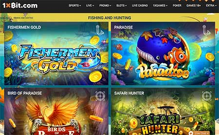 There is also somewhat special casino games in 1xBit Casino for Fishers and Hunters!