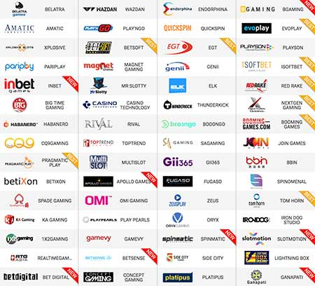 There is a huge number of casino game providers in 1xBit Casino.